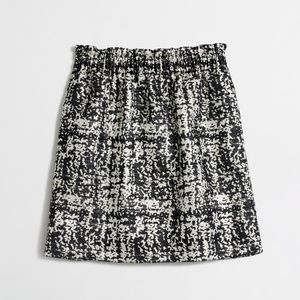 J. Crew Jacquard pleated mini skirt